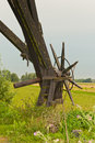 Closeup of a part of a Dutch windmill Royalty Free Stock Image