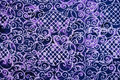 Closeup pattern texture of thai batic fabric Royalty Free Stock Photo