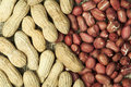 Closeup Peanuts on burlap Royalty Free Stock Photography