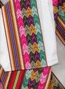 Closeup peruvian textil Stock Photos