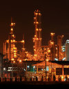 Closeup of petrochemical Factory Royalty Free Stock Photo