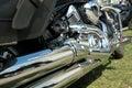 Closeup photo of motorbike Royalty Free Stock Image