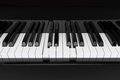 Closeup Piano keys Royalty Free Stock Photos