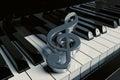 Closeup Piano keys Royalty Free Stock Photo