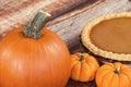 Closeup of a pie pumpkin Royalty Free Stock Photo