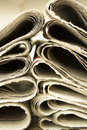 Closeup pile of newspaper Royalty Free Stock Photo