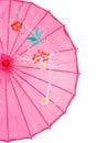 Closeup pink asian umbrella Royalty Free Stock Photo