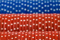 Closeup of poker chip rows Royalty Free Stock Photography