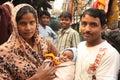 Closeup of poor urban slum india family Royalty Free Stock Photo