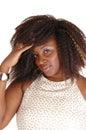 Closeup portrait of a African woman.