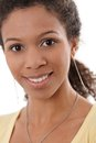 Closeup portrait of attractive afro woman Royalty Free Stock Photos