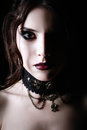 Closeup portrait of beautiful young goth girl Royalty Free Stock Photo