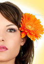 Closeup portrait of beautiful young woman Royalty Free Stock Photos