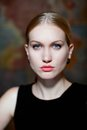 Closeup portrait of determined nordic woman Royalty Free Stock Photo