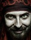 Closeup portrait of funny bizarre spooky man Royalty Free Stock Photo