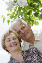 Closeup portrait of a happy mature couple Royalty Free Stock Images