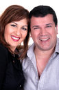 Closeup portrait of a happy mature couple Royalty Free Stock Photo