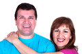 Closeup portrait of a happy mature couple Stock Photo