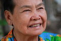 Closeup portrait of happy old woman at thailand Royalty Free Stock Images