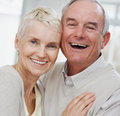 Closeup portrait of a happy senior couple Royalty Free Stock Image