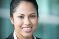Closeup Portrait of an Indian business woman. Royalty Free Stock Photo
