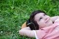 Closeup portrait of a little happy boy Stock Images