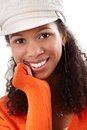 Closeup portrait of smiling afro beauty Stock Image