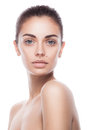 Closeup portrait of young adult woman with clean fresh skin Royalty Free Stock Photo
