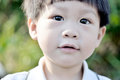 Closeup portrait of a young boy looking Royalty Free Stock Photo
