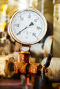 Closeup of pressure gauge Royalty Free Stock Photo