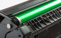 Closeup of printer toner cartridge Royalty Free Stock Images