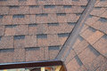 Closeup of problem areas for rain gutter waterproofing corner Royalty Free Stock Photo
