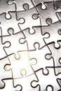 Closeup Of Puzzle Pieces Royalty Free Stock Photography