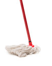 Closeup of red mop Royalty Free Stock Photo