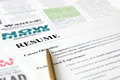 Closeup of Resume with Pen Royalty Free Stock Photo