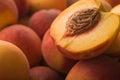 Closeup of ripe peach