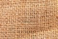 Closeup of rough natural linen texture whole background Royalty Free Stock Photography