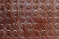 Closeup of rusty metal with knobs Royalty Free Stock Photo