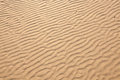 Closeup of sand pattern of a beach in the summer texture Royalty Free Stock Photography