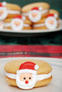 Closeup Santa Face Cookie Royalty Free Stock Photo