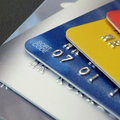 Closeup of a selection of credit and debit cards Stock Photo