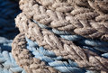 Closeup ship's rope texture Stock Photos