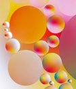 Closeup shot colorful oil bubbles Royalty Free Stock Image