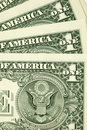Closeup shot of few dollar bills Stock Images