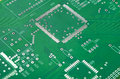 Closeup Shot of New Printed Circuit Board Without Any Components Royalty Free Stock Photo