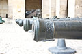 Closeup shot of old French army cannon Royalty Free Stock Photo