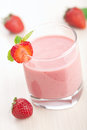 Closeup shot of strawberry smoothie Stock Photography