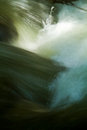 Closeup shot of water movement from a river strong current Royalty Free Stock Photography