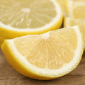 Closeup sliced lemon fruits healthy eating citrus Royalty Free Stock Photography
