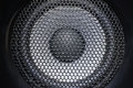 Closeup of speaker Royalty Free Stock Photo